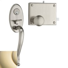 Lifetime Polished Brass 5720 Entrance Door Rim Lock