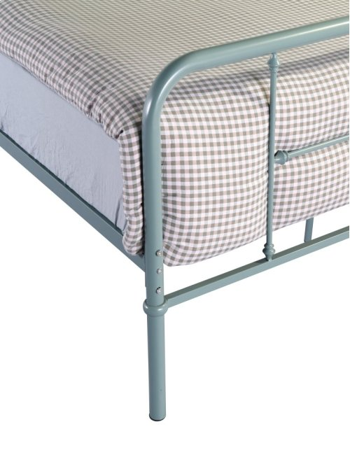 Emerald Home Fairfield Metal Bed Eucalyptus Green B202-09hbfbrgrn