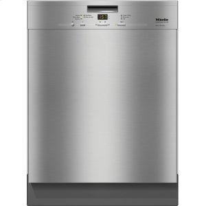 MielePre-finished, full-size dishwasher with visible control panel, cutlery tray and 5 Programs