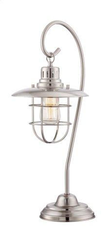 Table Lamp, Ps/metal Lantern,e27 Vintage Bulb 60w(lu-60v)