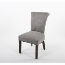 Flared back occasional chair