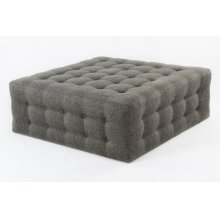 Tufted square ottoman with casters
