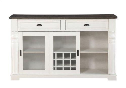 "Joanna Two Tone Kitchen Cart 50.5""x28.5""x36.5"""