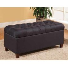 Tufted Navy Storage Bench