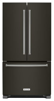 25 Cu. Ft. 36-Width Standard Depth French Door Refrigerator with Interior Dispense - Black Stainless Product Image