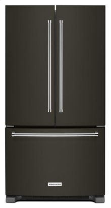 25 Cu. Ft. 36-Width Standard Depth French Door Refrigerator with Interior Dispense - Black Stainless