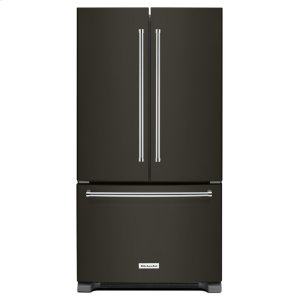 Kitchenaid25 Cu. Ft. 36-Width Standard Depth French Door Refrigerator with Interior Dispense - Black Stainless