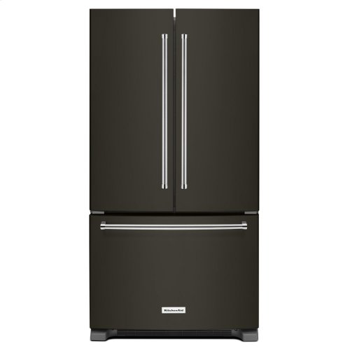 25 Cu. Ft. 36-Width Standard Depth French Door Refrigerator with Interior Dispense - Black Stainless Steel with PrintShield™ Finish
