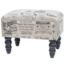 French Script Accent Stool