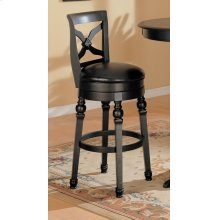 Traditional Black Swivel Bar Stool