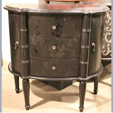 Black 2 Door 3 Drawer Console