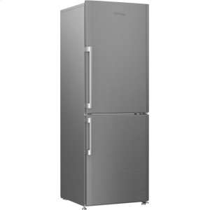 """24"""" 12 cuft bottom freezer fridge with full frost free, stainless steel"""