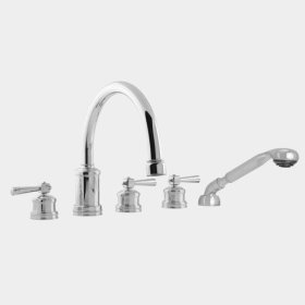 2500 Series Roman Tub Set with Diverter, Handshower and Regent Handle (available as trim only P/N: 1.255393T)
