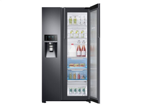 22 cu. ft. Counter Depth Side-by-Side Food ShowCase Refrigerator with Metal Cooling