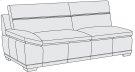Prescott Left Arm Loveseat in Mocha (751) Product Image