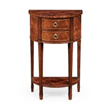 Demilune Lamp Table Mahogany
