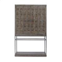 Casa Bella Burl Bar Cabinet Timber Gray Finish Product Image