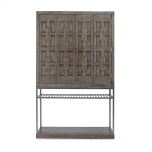 Casa Bella Burl Bar Cabinet Timber Gray Finish