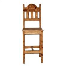 "30"" Wood Seat Star Barstool"