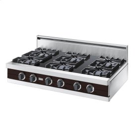 "Chocolate 42"" Open Burner Rangetop - VGRT (42"" wide, six burners)"