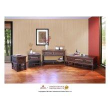 1 Drawer End Table - Iron Base, w/Wood Shelf