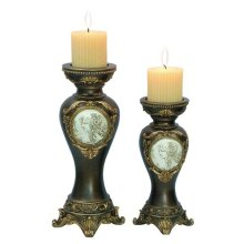 2 PC. CANDLE HOLDER SET