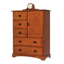 Old English Mission Chest of Drawers with Door