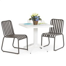 0100 Series 3PC Dining Set Charcoal