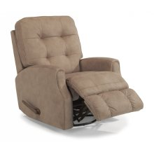 Devon Fabric Swivel Gliding Recliner without Nailhead Trim