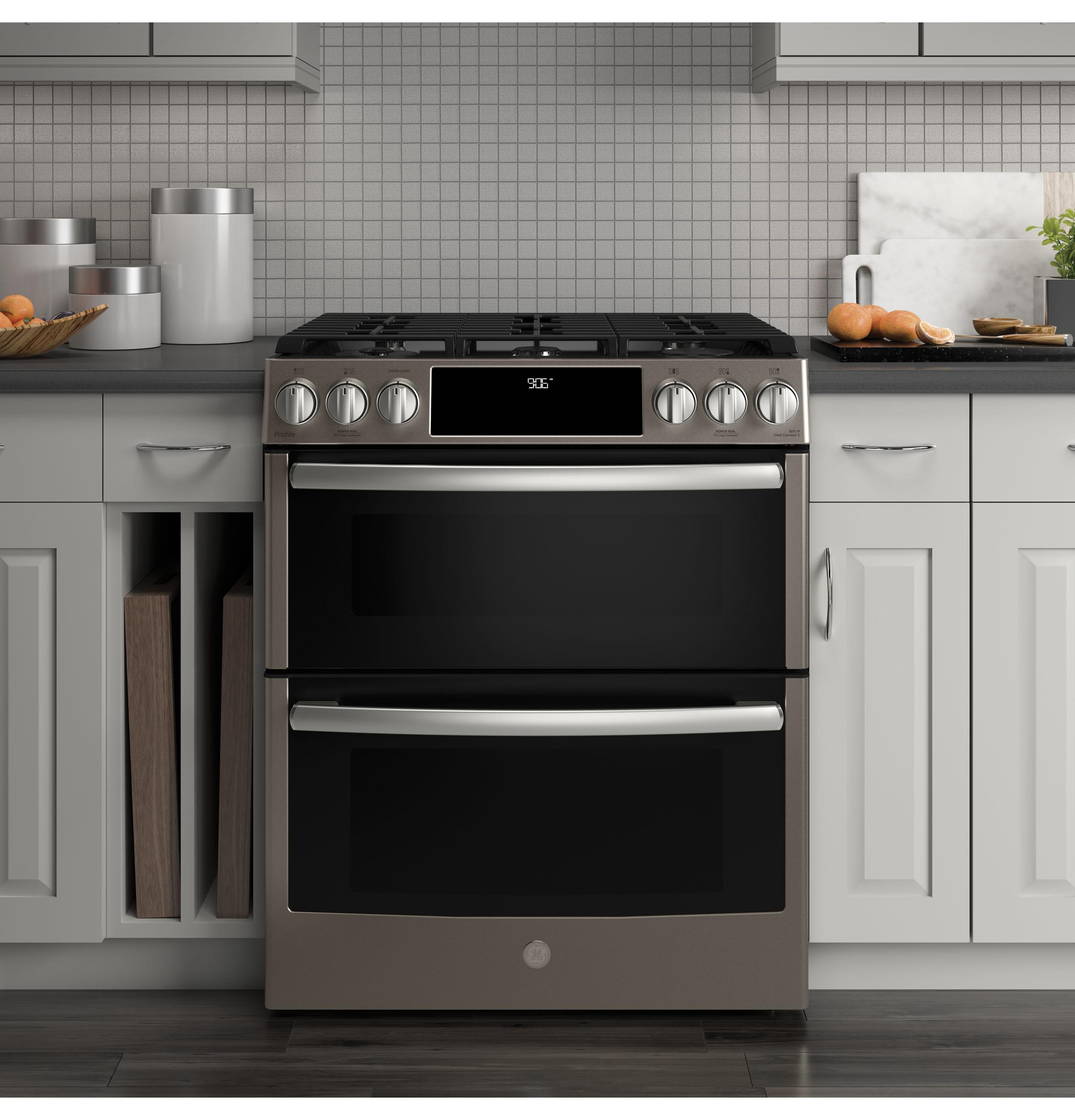 Pgs960eelesge Profile Ge Profiletm Series 30 Slide In Front Wiring Electric Oven And Gas Hob Control