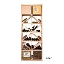 Apex 7' Case & Diamond Bin Modular Wine Rack