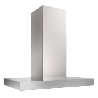 Ispira 36-in. 600 CFM Stainless Steel Island Range Hood with PURLED Light System and Brushed Grey Glass