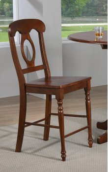 Sunset Trading Andrews Napoleon Barstool in Chestnut