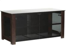 """Widescreen Lowboy Smoked tempered-glass doors - fits AV components and TVs up to 55"""""""