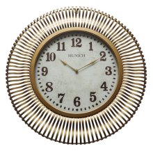 Munich in Antique Gold Wall Clock