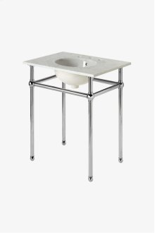 "Universal Four Leg Single Washstand Packaged with Sink and Slab Top 30"" x 21"" x 32 3/4"" STYLE: UNWS04"