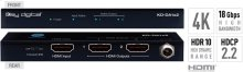 1x2 4K/18G HDMI Distribution Amplifier, HDR10, HDCP2.2