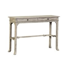 Sofa Table, Available in Aged White Finish Only.