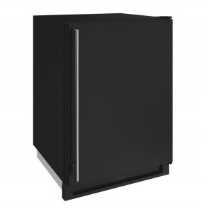 """U-Line 1000 Series 24"""" Convertible Freezer With Black Solid Finish And Field Reversible Door Swing (115 Volts / 60 Hz)"""