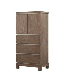 Emerald Home Vista Lingerie Chest-doors W/lower Drawers Weathered Gray B242-09