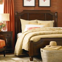 Coral Key Queen Louvered Bed