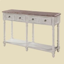 """Cottage"" White Open Console"