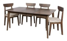 """Square 42"""" 2-12"""" 4 Legged Dining Table"""