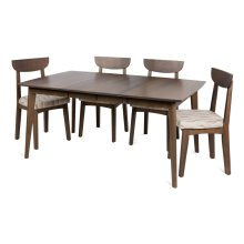 "Square 42"" 2-12"" 4 Legged Dining Table"