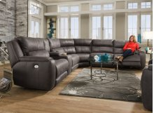 6 pc. Power Sectional w/ Powered Headrests