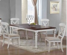Sunset Trading 5 Piece Andrews Butterfly Leaf Dining Table Set in Antique White