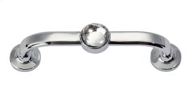Legacy Crystal Bracelet Pull 3 Inch (c-c) - Polished Chrome
