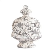 Aged Plaster Embellished Oval Box