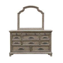 Bristol 11 Drawer Dresser in Elm Brown