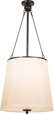 Visual Comfort BBL5023BZ-S Barbara Barry Westport 3 Light 18 inch Bronze Hanging Shade Ceiling Light